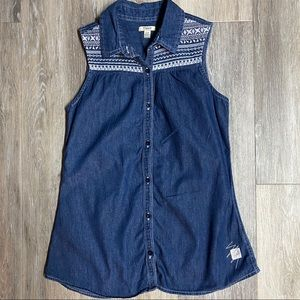 ⭐️ 3 for $25⭐️ Silver Jeans Denim sleeveless Top